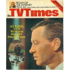 TVT 1975/35 - August 23-29, 1975 (ATV/Midland) [Incomplete] SAM - with cover photos of Mark McManus and Kevin Moreton (Sam as a boy)